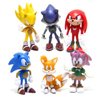 6 Styles Sonic the Hedgehog Shadow Tails Amy Rose PVC Action Figures Toys 2.4""