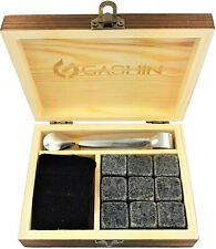 9 Pcs Whiskey Stones Gift Set Granite Chilling Rock Whisky Birthday Xmas Gifts
