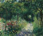Pierre Auguste Renoir Garden Fine Art Print on CANVAS Home Decor Small 8x10