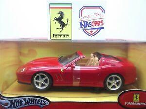 1:18 Hot Wheels Ferrari 575 Superamerica 2004 rouge Comme neuve et scellée