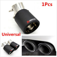 Universal Angle Adjustable 63-89mm Carbon Fiber Car Exhaust Pipe Muffler End Tip
