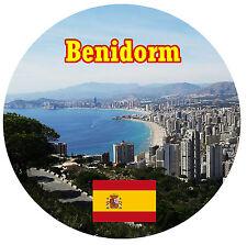 BENIDORM,SPAGNA VISTE/BANDIERE ROTONDO NEGOZIO DI SOUVENIR