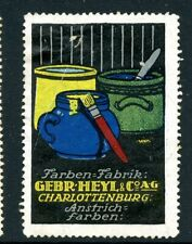 Germany Poster Stamp Gebhard Heyl & Co Charlottenburg Paint Art Maker Pottery