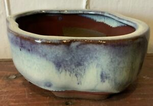 """NEW 5"""" Glazed Ceramic Bonsai Pot in a Variety of Styles & Colors"""