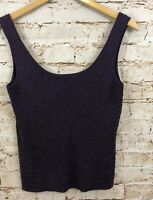 Ann Taylor womens small sleeveless tank top NEW Beaded Knit Cami sweater Silk A5