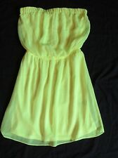 New Women's Express Tube Top Party Dress (with Straps) Neon Lime Green Size XS