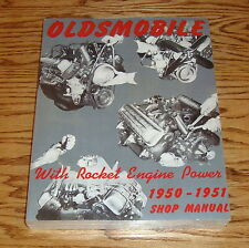 1950 1951 Oldsmobile with Rocket Engine Power Shop Service Manual 50 51