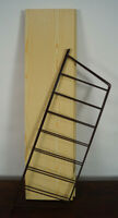 60er Bookcase Vintage String Shelf Birch Tree Wall Shelf Danish Shelf System