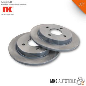2x NK Bremsscheiben, Bremsen SET/Satz hinten für AUDI SEAT SKODA VW