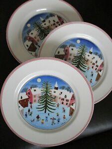 3 Frühstücksteller Villeroy & Boch Naif Christmas V&B Teller 21cm Kuchenteller