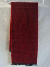 TWEED WOOL BLEND SCARF FRINGES PREOWNED BRICK RED & BLACK
