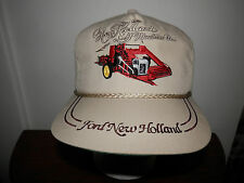trucker hat baseball cap NEW HOlland Ford combine machine co  vintage cool retro