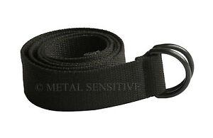 Black Professional Electrician Webbing Nylon Belt PLASTIC BUCKLE Work Uniform