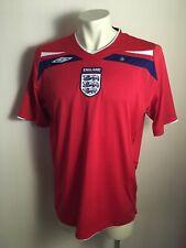 England National Team 2008 - 2010 UMBRO  Away Shirt SIZE XL  RED ORIGINAL