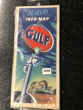 1948 Gulf Oil Alabama Info/road Map