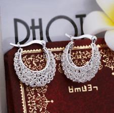 925 Silver Earrings Crystal Ear Stud Women Fashion Jewelry Gift