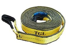 "2"" X 20FT 2Ply Tow Strap W/Loop Ends 23,000 LB Capacity Recovery Rescue Offroad"