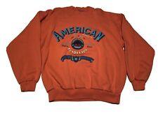 Vtg 1990 Iou American Tradition World Class Sweatshirt Salmon Pink Large