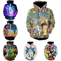 Rick and Morty Hoodie 3D Printed Sweatshirt Zipper Hooded Pullover Casual Jacket