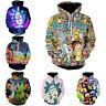 Rick and Morty Hoodie 3D Printed Sweatshirt Zipper Hooded Pullover Casual Jacket