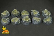 25mm (10) Eldar Egyptian Rune Glyph Ruins Thousand Sons Resin Base Warhammer 40k