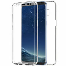 For Samsung Galaxy S8 Plus Full Body 360° Silicone Gel Clear Dual Case Cover