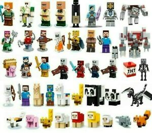 NEW Lego Minecraft Minifigures minifig and Animals SELECT YOUR MINIFIG FAST SHIP