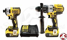 New DeWALT 20V Max Brushless XR 5.0Ah Li-Ion Impact Drill HammerDrill Driver Kit