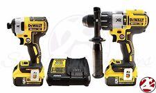 New DeWALT 20V Max Brushless XR 5.0Ah Li-Ion Impact Drill HammerDrill Driver Kit