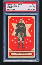 1933 OPC O-Pee-Chee HOWIE MORENZ #23 HOF PSA 4 - CENTERED No Creases