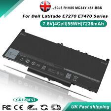 7236mAh J60J5 MC34Y Battery For Dell Latitude 12 E7270 E7470 R1V85 451-BBSX BBSY