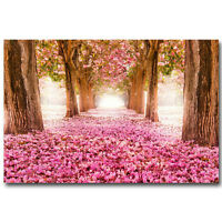 Fantasy Cherry Blossom Forest Path Nature Art Silk Poster 13x20 24x36inch