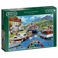 Falcon de luxe 11241 Day on The River 1000 Piece Jigsaw Puzzle, Multi
