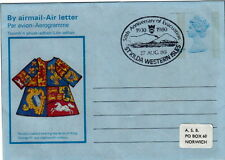 ST KILDA : 1980 50th Anniversary of Evacuation handstamp on GB Airletter