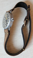 LEATHER WRIST BAND f XXL PILOTS PILOT'S WATCH Overlong 1 1/8in