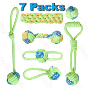 Pet Dog Toys for Large Small Dogs Toy Interactive Cotton Rope Mini Dog Toys Ball