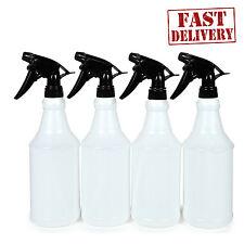 4 Pack Plastic Trigger Spray Bottle 24 Oz Empty Duty Sprayer Chemical Resistant