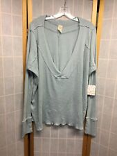 NWT Free People Oversized Womens Ribbed Sweater-Inside-Out Seams-Mint-Sz.M (E14)