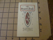 ORIGINAL - THE DESSERT BOOK -the camp fire outfitting co. 16pgs