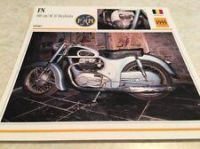 Carte moto FN 500 M20 bicylindre 1955 collection Atlas Motorcycle Belgique