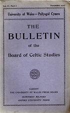 DIARHEBION YM MHENIARTH -1795 DENBIGH RIOT- CELTIC STUDIES BOARD BULLETIN (1927)