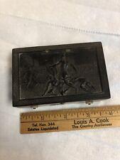 Antique Swiss Gutta Percha Snuff Music Box Cylinder Comb Type Roman Gladiators
