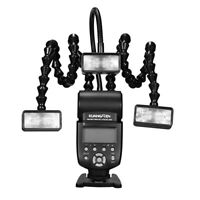 KUANGREN KR-888 Macro Flash Light w 3PCS Flash Heads for Canon Nikon Sony DSLR