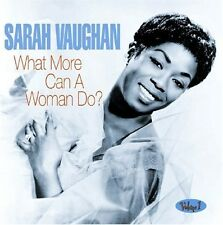 What More Can A Woman Do? - Sarah Vaughan (2011, CD NEU)