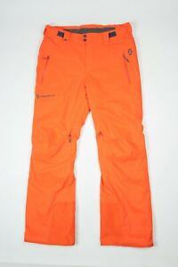 Mens Scott Orange Ski Snow Pants Size L