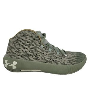 """Under Armour HOVR Havoc 2 Military Green Veterans Day"""" Shoes Size 14 3022657-300"""