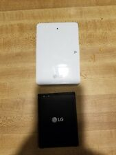 Lg v10 accessories Factory Battery with charger pod & Otterbox case with clip