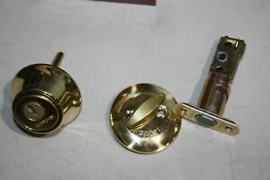 NEW Kwikset Polished Brass Single Cylinder Deadbolt with SmartKey Security 660 3