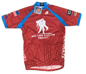Nwt Wounded Warrior Project Soldier Ride Men's Red Cycling Jersey Small Club Cut