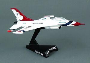 Postage Stamp 1:126 Lockheed Martin F-16 Falcon Thunderbirds AVIATIONMODELSHOP
